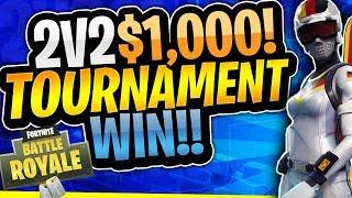 2v2 $1000 Fortnite Tournament Win! (Fortnite Battle Royale)