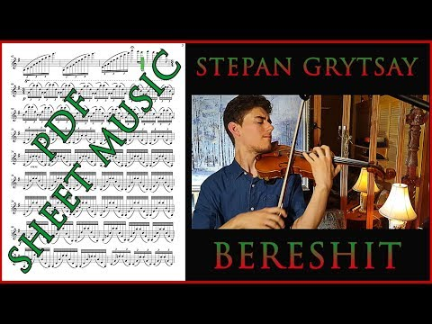 [LIVE SHEET MUSIC] THE BEGINNING for Violin Solo (Bereshit)