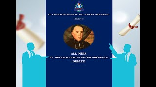 All-India Fr. Peter Mermier Inter-Province Debate 2020