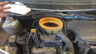 видео Замена воздушного фильтра Renault Logan