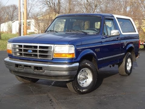 1996 ford bronco xlt 4x4 leather 5 8l sold youtube. Cars Review. Best American Auto & Cars Review