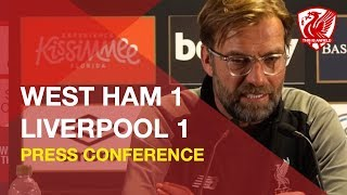 west-ham-1-1-liverpool-jurgen-klopp-press-conference