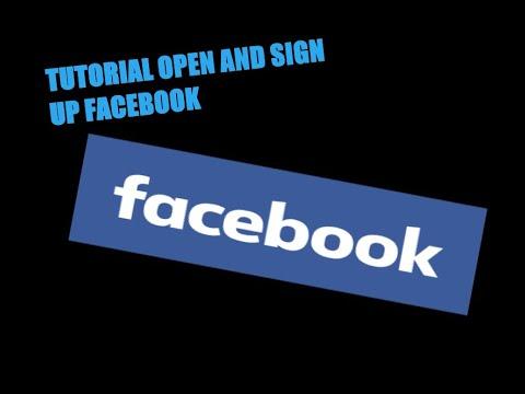 How To Open and Sign Up on Facebook Tutorial | Cara-Cara Buka dan ...