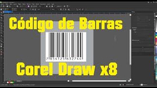 Como fazer codigo de Barras Corel draw x8