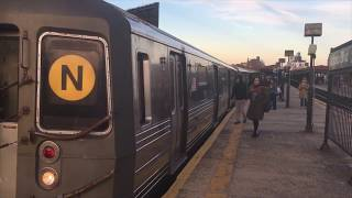 BMT Astoria Line: R160 and R68 (N) and (W) Lcl/Exp Trains @ Astoria Blvd thumbnail