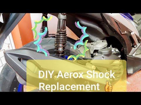 Yamaha Aerox 155 Rear Shock Replacement DIY From 2017 to 2018 Stock