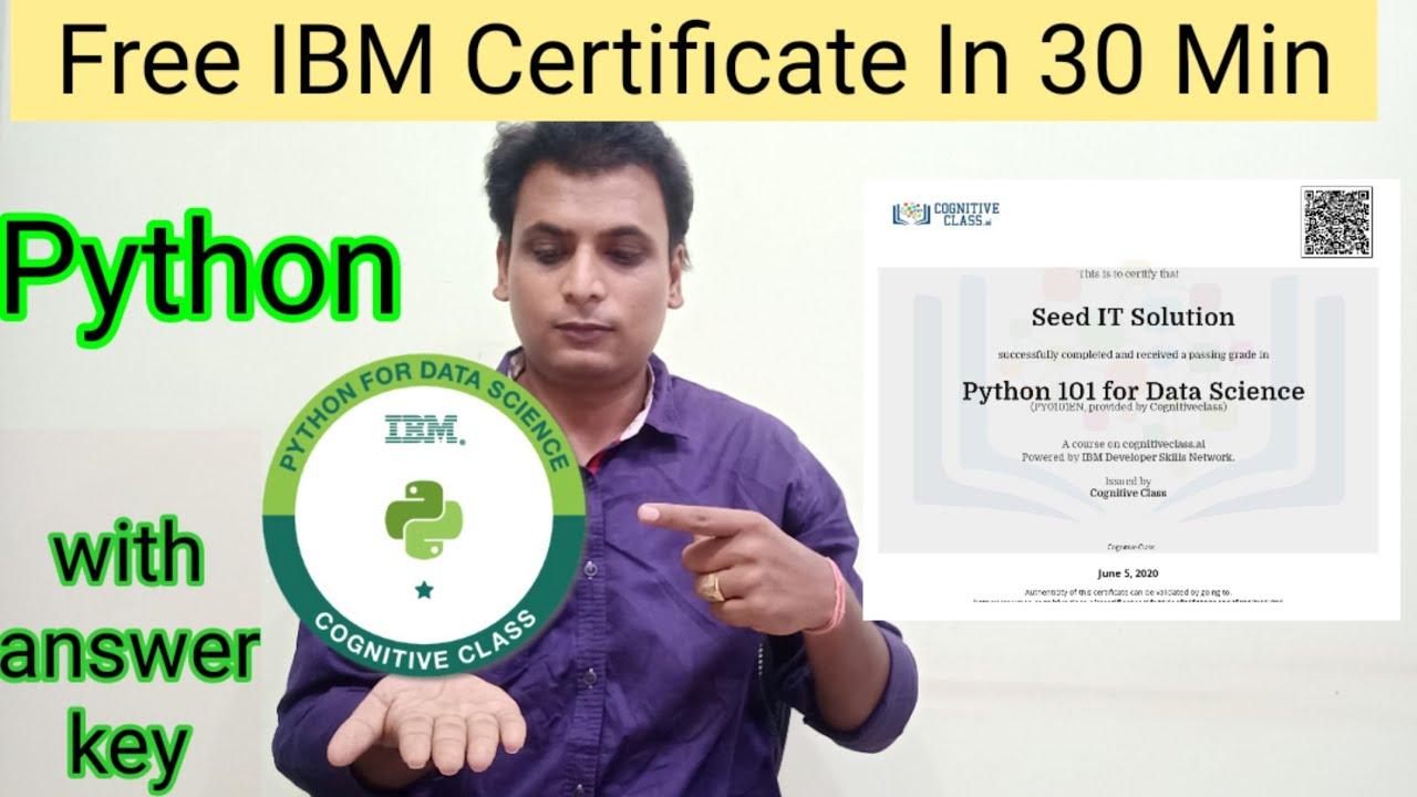 python certificate certification ibm