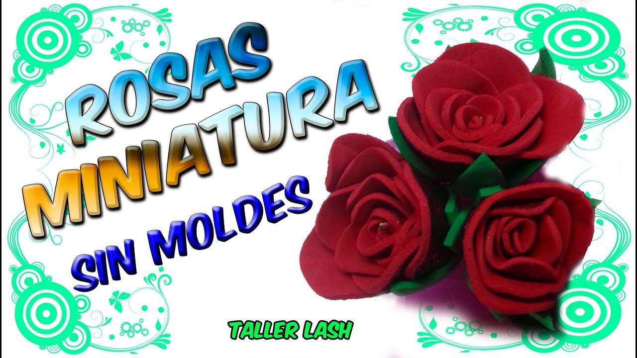Rosas Miniatura en Foamy !!! sin moldes!!!|Taller Lash - YouTube