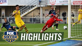 Dortmund cruises past Paderborn thanks to Jadon Sancho's hat-trick | 2020 Bundesliga Highlights
