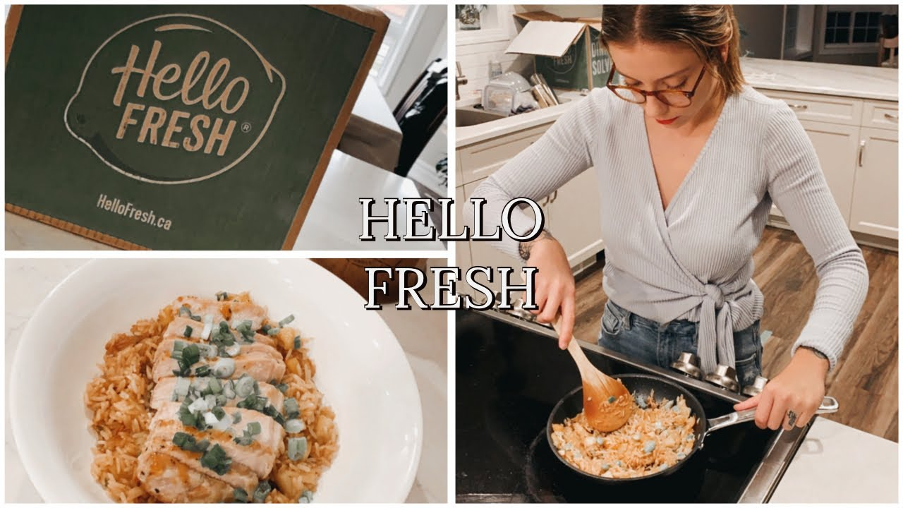Hello Fresh Cook With Me Unboxing Youtube