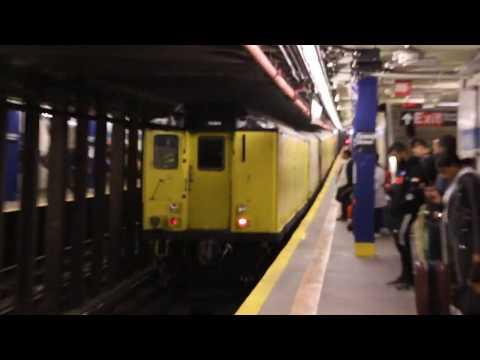 MTA NYC Subway R14, R21, R22, R33 (R71, R161) De-icer Cars Move - October 16, 2019