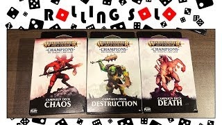 Warhammer Age of Sigmar: Champions | Campaign Decks & Booster Box | Unboxing