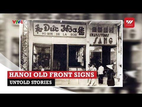 Hanoi old front signs – Untold stories | VTV World