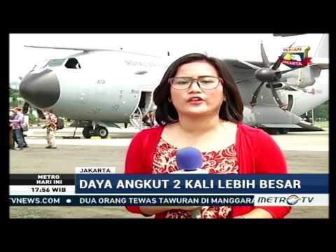 Airbus A400M Angkatan Udara Kerajaan Inggris hadir di Jakarta