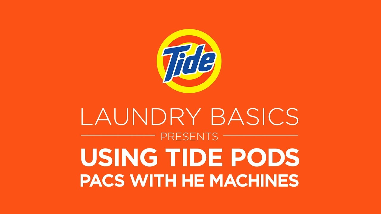 tide laundry tips how to use tide pods with he machines youtube