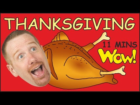 Thumbnail: Thanksgiving Baby in the Family + MORE | English Short Stories for Kids | Steve and Maggie | Wow TV