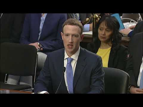 Blunt Questions Mark Zuckerberg On Data Tracking 4/10/18