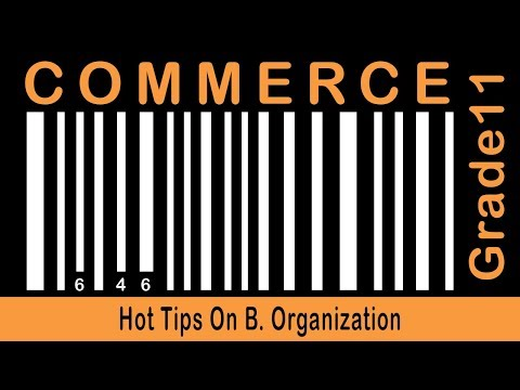 Commerce Grade 11 | Forms Of B.O | Hot Tips On B. Organization | Part 15
