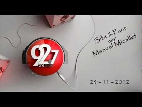 Edward Scicluna MEP - Sibt il-Punt - ONERADIO 24.11.2012
