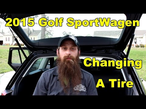 2015 Golf Sportwagen changing a tire, and using a VW jack
