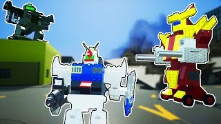 FUN LEGO MECH BATTLE IN THE CITY! GIANT LEGO ROBOTS! | Fun Brick Rigs Gameplay (Kid Friendly)