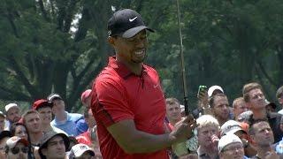 Tiger Woods withdraws due to apparent injury at Bridgestone