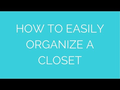 Closet organization method