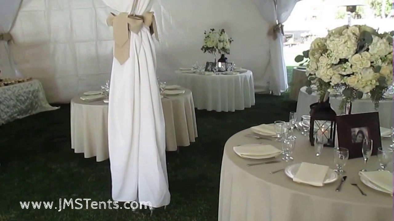 Backyard Tent Wedding For 200