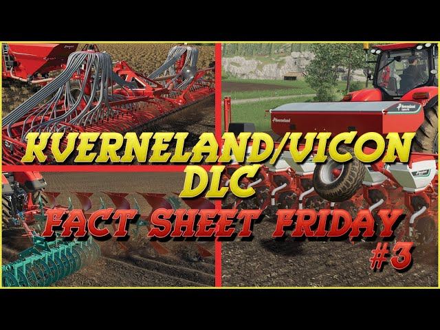 Kverneland & Vicon DLC: Fact Sheet Friday #3 | Farming Simulator 19