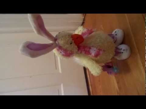 Easter Chuckling Duck Chicken with Rabbit Bunny Costume Dancing Musical Automated Toy