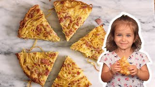 Spaghetti Pie: The Portable Pasta - with Mommy and Mia
