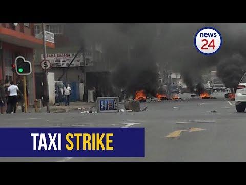 Taxi strike: Chaos in  Pietermaritzburg City Centre