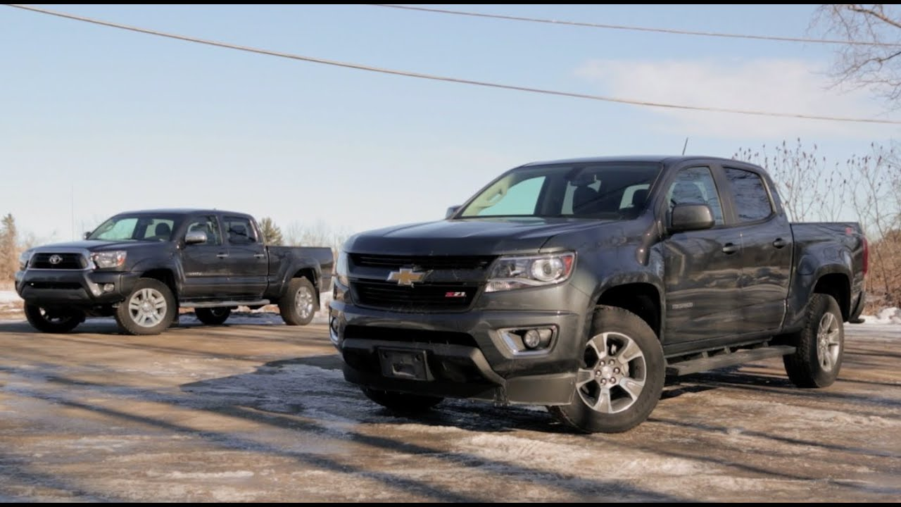 2015 chevrolet colorado vs 2015 toyota tacoma doovi. Black Bedroom Furniture Sets. Home Design Ideas