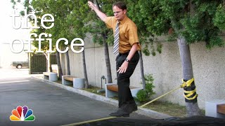 Dwight's Slackline Fail - The Office