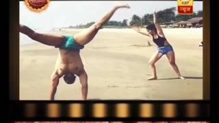 Check out the cartwheel of Rubina Dilaik and Abhinav Shukla
