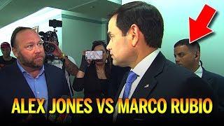 Alex Jones VS Marco Rubio Outside Senate Social Media Hearing (REACTION)