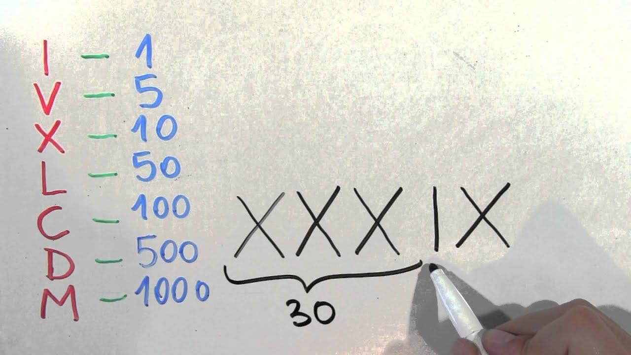 Cómo Se Escribe 39 Con Números Romanos Treinta Y Nueve Youtube