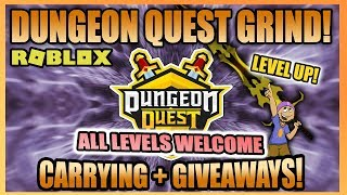 🔴 Dungeon Quest ⚔ Kings Castle - Outpost - Pirate 🛡 Carrying & Live Item Giveaways! 💎 (Roblox)
