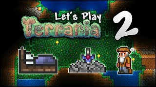Let's Play Terraria 1.3.5 | The LUCKIEST Lake! Setting Our Spawn! [Episode 2]