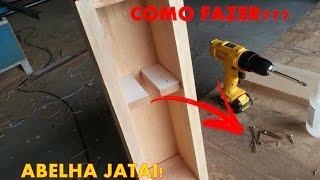como construir caixa para abelha jatai modo rpido e fcil modelo af vertical