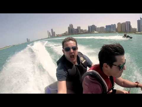 Jet Ski Racing Down The Corniche In Abu Dhabi