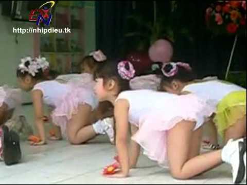 http://nhipdieu.tk - Bài biểu diễn năng khiếu aerobic mẫu giáo