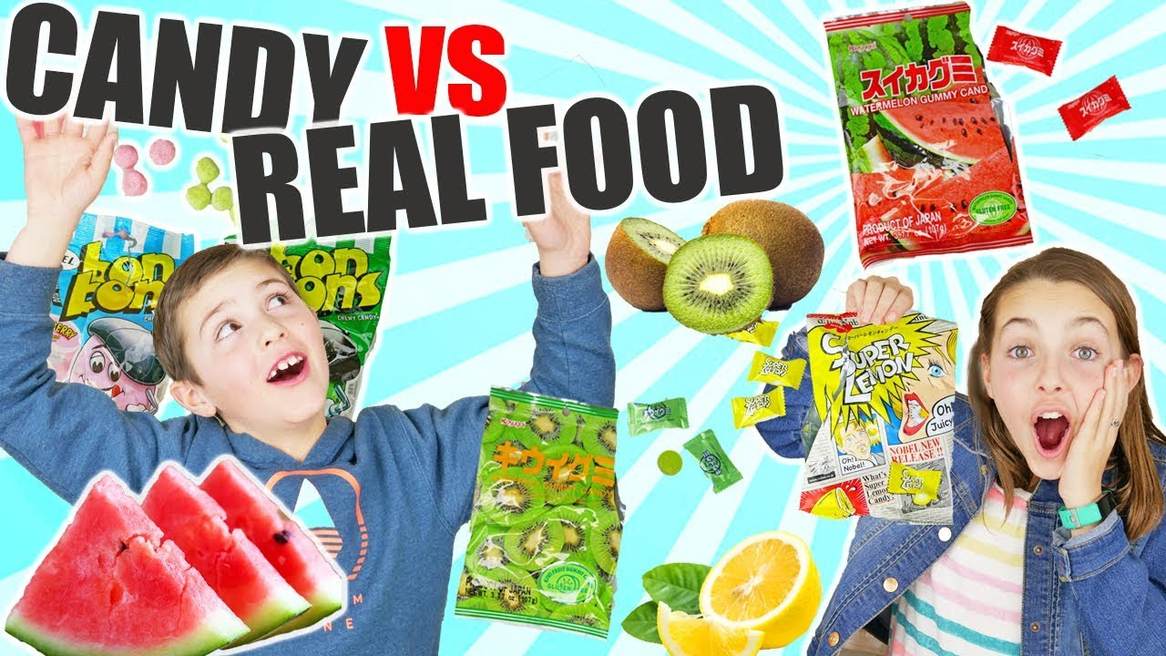 Gummy candy vs real food taste test challenge game kids - Quiz cuisine francaise ...
