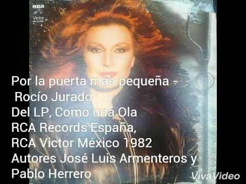 Por la puerta más pequeña Rocío Jurado LP 1982