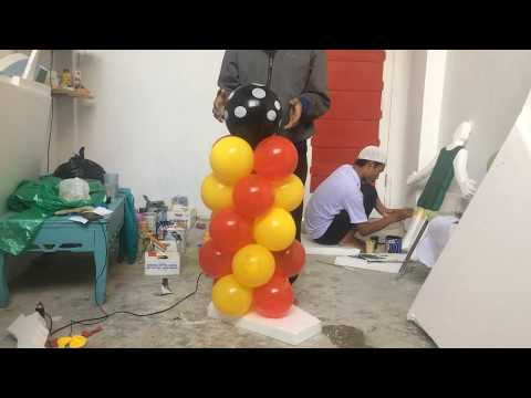 Membuat Balon Standing mudah dengan alat sederhana