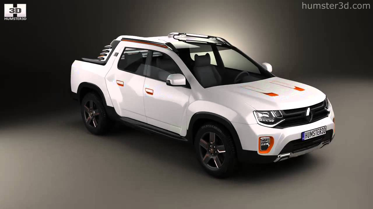 Renault Duster Oroch 2015 By 3d Model Store Humster3d Com Youtube