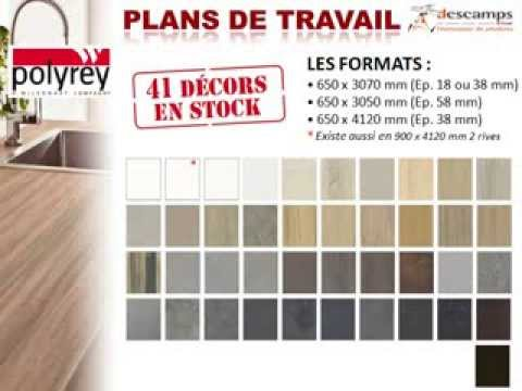 descamps plans de travail polyrey formica pfleiderer youtube. Black Bedroom Furniture Sets. Home Design Ideas