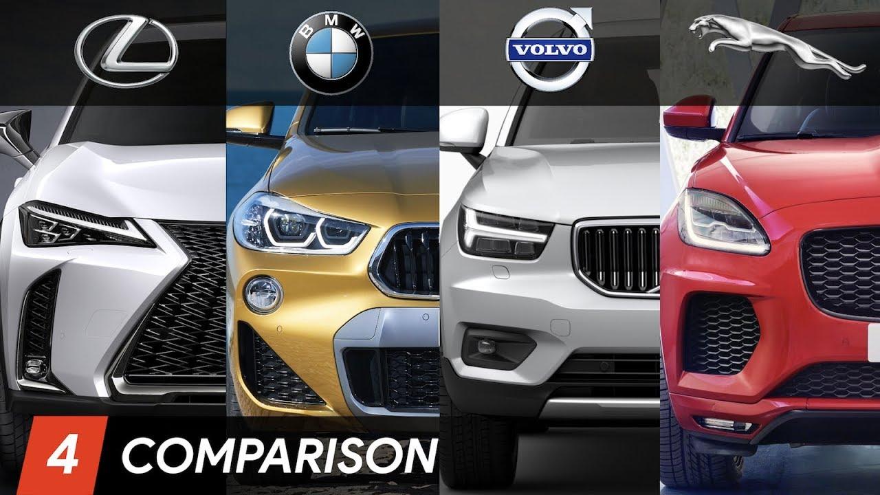 2019 Lexus UX Vs BMW X2 Vs Volvo XC40 Vs Jaguar E Pace Design & Dimensions Comparison - YouTube