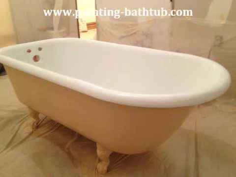 NY Professional Porcelain Reglazing a Claw Foot Tubs - YouTube