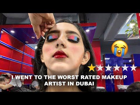 DUBAI'S WORST MAKEUP SALON EVER!   I WENT TO THE LOWEST RATED MAKEUP SALON IN DUBAI!!